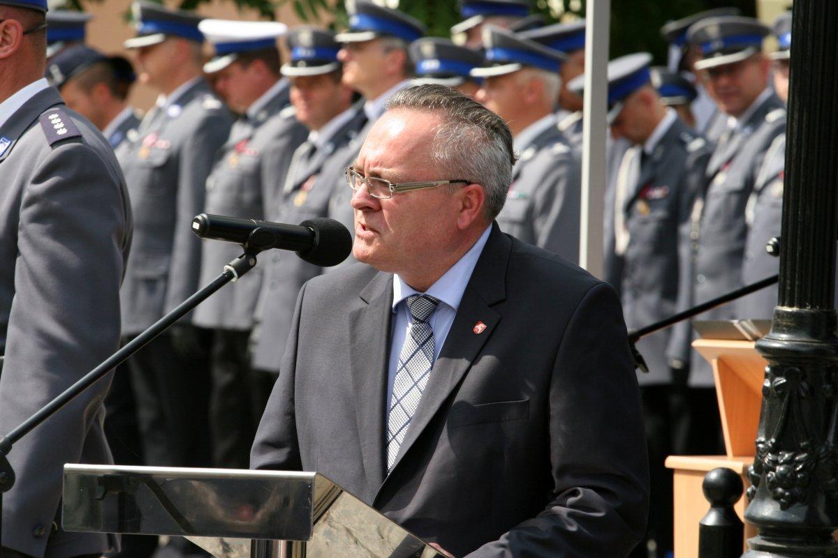 Wicemarszałek Województwa Lubelskiego Zbigniew Wojciechowski podczas przemówienia