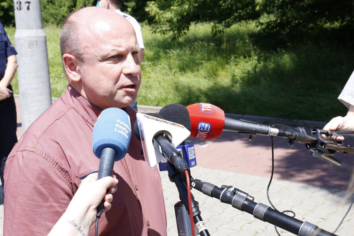Prezes WOPR w Lublinie Pan Robert Wawruch